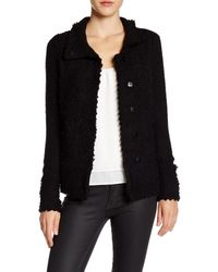 NIC+ZOE | Black 4-way Linen-blend Knit Cardigan | Lyst