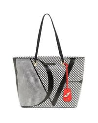 Diane von Furstenberg | Black Sutra Ready To Go Checkered Leather Tote | Lyst