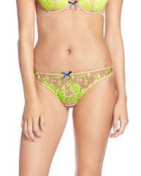 Heidi Klum - Yellow 'sun Kissed' Embroidered Thong - Lyst