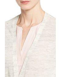Halogen | Multicolor Long Belted Linen Blend Cardigan (petite) | Lyst