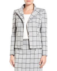 Halogen | Gray Windowpane Check Stretch Suit Jacket (regular & Petite) | Lyst