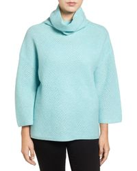 Halogen | Blue Wool & Cashmere Sweater | Lyst