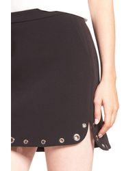 Trouvé - Black Grommet Detail Miniskirt - Lyst