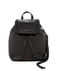 Rebecca Minkoff | Black Micro Unlined Leather Backpack | Lyst