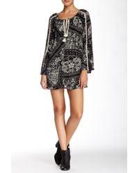 Love Stitch | Black Long Sleeve Tunic Dress | Lyst