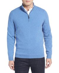 John W. Nordstrom   Blue Quarter Zip Cashmere Sweater (regular & Tall) for Men   Lyst