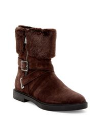 Ivanka Trump - Brown Chani Faux-Shearling Ankle Boots - Lyst