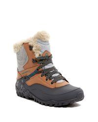 Merrell - Brown Fluorecein Shell 8 Waterproof Faux Fur Boot - Lyst