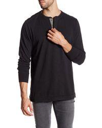 Jeremiah | Black Finn Slub Henley Long Sleeve Shirt for Men | Lyst