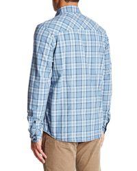 Jeremiah - Blue Jordan Plain Weave Plaid Shirt for Men - Lyst