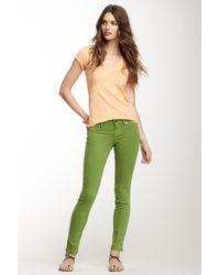 Level 99 | Green Janice Ultra Skinny Jegging | Lyst