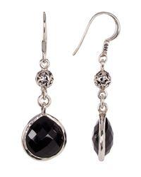 Lois Hill | Metallic Sterling Silver Black Onyx Tabiz Drop Earrings | Lyst