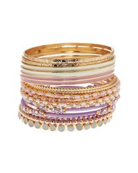 Joe Fresh | Multicolor Multi Color Multi Bangle Bracelet | Lyst
