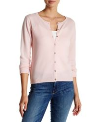 In Cashmere | Pink Seamout Detail Cashmere Cardigan | Lyst