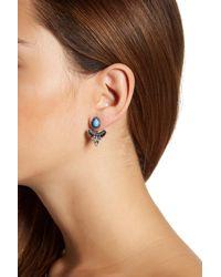 Joe Fresh - Blue Arrow Jacket Earrings - Lyst