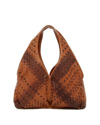 Sondra Roberts | Brown Woven Leather Shoulder Bag | Lyst