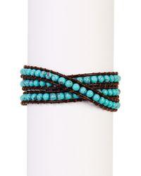 Lucky Brand - Multicolor Turquoise Bead Wrap Bracelet - Lyst
