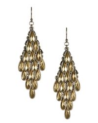 Lucky Brand | Metallic Two-tone Drop Earrings | Lyst