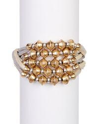Lucky Brand | Metallic Multi-strand Beaded Bracelet | Lyst