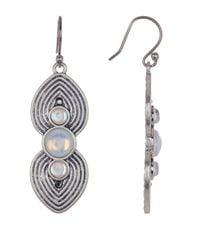 Lucky Brand - Multicolor Moonstone Double Spade Drop Earrings - Lyst