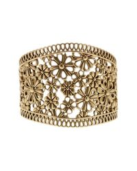 Lucky Brand | Metallic Gold Lace Openwork Cuff | Lyst