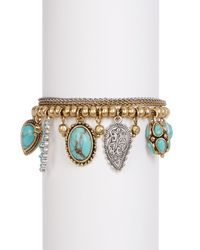 Lucky Brand   Multicolor Turquoise Charm Bracelet   Lyst
