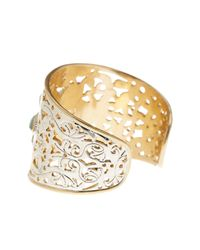 Lucky Brand | Metallic Etched Turquoise Statement Cuff | Lyst
