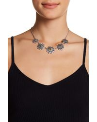 Lucky Brand | Black Two-tone Flower Collar Necklace | Lyst