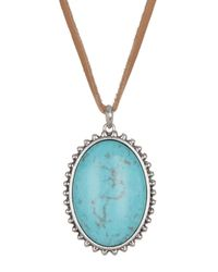 Lucky Brand | Multicolor Turquoise Stone Pendant Necklace | Lyst