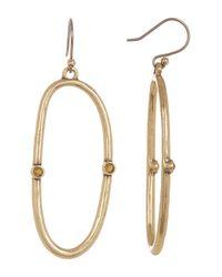 Lucky Brand | Metallic Open Hoop Earrings | Lyst