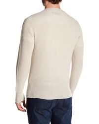 J Brand - Natural Robbins Crew Neck Wool Sweater for Men - Lyst