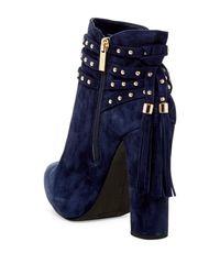 Jessica Simpson | Blue Marguerit Platform Booties | Lyst