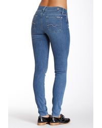 7 For All Mankind - Blue Gwenevere Skinny Jean - Lyst