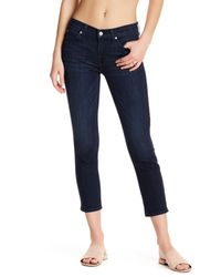 7 For All Mankind - Blue Roxanne Crop Jean - Lyst