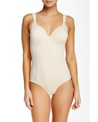 Joan Vass | Natural Molded Cup Bodysuit (plus Size Available) | Lyst