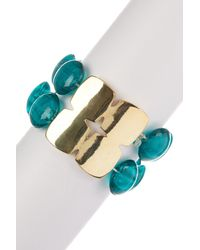 Kenneth Cole | Blue Teal Morano Stretch Bracelet | Lyst