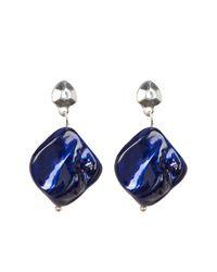 Kenneth Cole | Blue Free Form Drop Earrings | Lyst