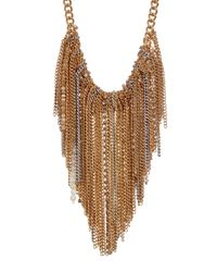 Kenneth Cole - Natural Fringe Frontal Bib Necklace - Lyst