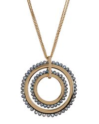 Kenneth Cole - Metallic Double Circle Pendant Necklace - Lyst