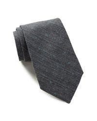 Calvin Klein | Black Heather Sable Dot Tie for Men | Lyst
