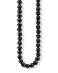 Thomas Sabo - Black Obsidian Stone Bead Necklace - Lyst