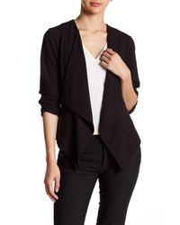 Kensie | Black Open Front Long Sleeve Jacket | Lyst