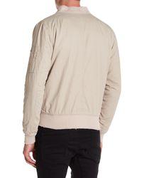 KUWALLA - Natural Garment-dyed Bomber Jacket for Men - Lyst