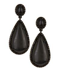 Lauren by Ralph Lauren | Black Large Teardrop Earrings | Lyst