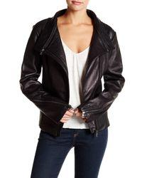 Sam Edelman | Black Genuine Leather Jacket | Lyst