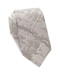John Varvatos - Gray Marble Abstract Tie for Men - Lyst