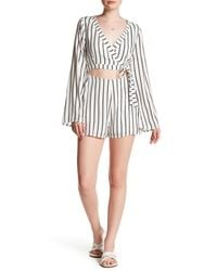Lucca Couture | White Cutout Wrap Romper | Lyst