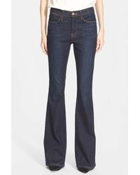 FRAME   Blue 'le High Flare' Jeans   Lyst