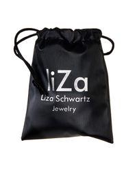 Liza Schwartz - Metallic Crystal Nut & Bolt Necklace - Lyst
