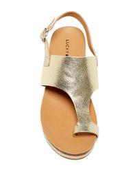 Lucky Brand | Metallic Janessa Espadrille Wedge Sandal | Lyst